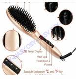 Pettine 2016 della spazzola del raddrizzatore dei capelli di meraviglia della visualizzazione di LED