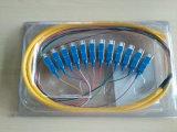 Trecce ottiche della fibra di uscita MP di memoria dello Sc Upc/APC 12 con il PVC Jack