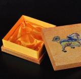 Cadre de bijou de papier grenu en bois de bâche