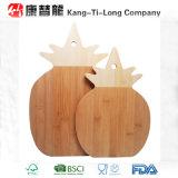 Placa de corte de bambu da forma do abacaxi