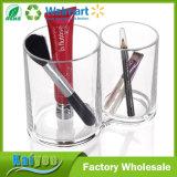 Sostenedor cosmético del almacenaje del rectángulo de cepillo del sostenedor del organizador de acrílico claro del maquillaje