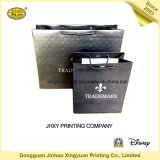Sac à provisions de papier noir avec le traitement (JHXY-PBG0016)