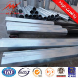 Ringsum 4mm Steel Plate Thickness Galvanized Steel Pole 15m Two Sections