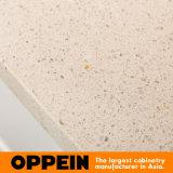 Oppeinの現代白い平たい箱の積層物のモジュラー木製の台所食器棚(OP15-038)