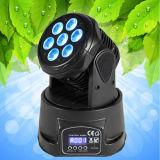 Preiswertes verdunkelnbewegliches Hauptlicht der Wäsche-7X10W Mini-LED