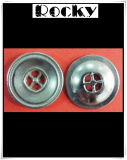 Bouton de partie lisse en métal de bouton d'alliage pour le vêtement
