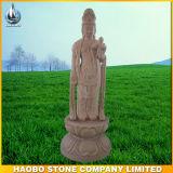 Steinhand geschnitzte Guanyin Bodhisattva-Statue