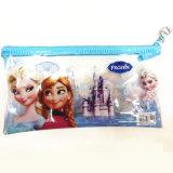 Saco do lápis do PVC das crianças com desenhos animados Frozen de Elsa
