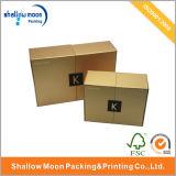Подгонянные роскошные золотистые косметики закрытия магнита упаковывая коробку (QYCI1504)
