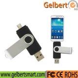 8GB OTGの電話のためのマイクロUSB 2.0の旋回装置USBのフラッシュ駆動機構