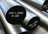 Штанга стали инструмента DIN1.2080 круглая, плоская