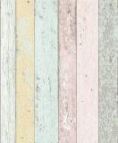Papel de parede Washable do vinil do projeto de madeira Home da decoração