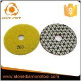 Пусковые площадки диаманта гибкие сухие полируя для гранита/мрамора/бетона