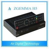 2016 plus défunts tuners jumeaux élevés de l'hybride DVB-T2/C du système d'exploitation linux E2 Hevc/H. 265 DVB-S2+ de dual core de récepteur de TV-SAT de CPU Zgemma H5 FTA HD
