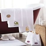100%年の綿の刺繍のホテルタオルセット