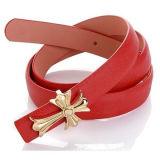 Mulheres Moda Pin Buckle Dividir Couro Belt (HJ0027)