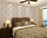 Seamless Luxury Classic Embossing Wallpaper Fabric Bedroom Livingroom