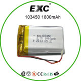 103450 3.7V 1800mAh Lithium Polymer Battery con Metal Frame