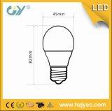 lâmpada do bulbo do diodo emissor de luz de 3000k G45 3W 240lm (CE RoHS SAA)