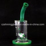 Wundervoller Entwurfs-Tierform-grüne Farben-rauchendes Wasser-Glasrohr