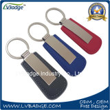 Metal Keychain Keychain de cuero del regalo de la promoción con insignia de encargo