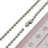 Chaîne noire de bille plaquée par métal de la coutume 1.5mm