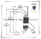 Carabiner de metal de logotipo de impresión personalizada de doble bloqueo