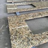 Dessus jaune de vanité de granit du Brésil pour la salle de bains