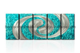 装飾(CHB6014065)のための3D効果の抽象的なデザイン金属の壁の芸術