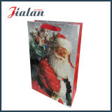 Bolso de papel barato laminado mate de la Navidad de la promoción del diseño de encargo de la insignia