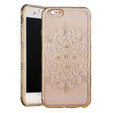 Mobiele Phone Flower Lectroplating TPU Case met Dimond voor iPhone6s