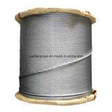 Câble métallique galvanisé d'IMMERSION chaude 7*7
