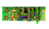 Cour de jeu d'intérieur de thème de jungle pour des postes d'enfants