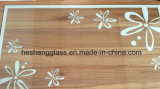 5mm Flower Printing Tempered Glass Used in Decoration