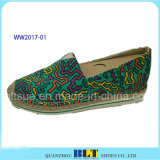 Chaussures occasionnelles d'Outsole de Rb de femmes avec la corde de chanvre