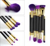 щетки состава волос пурпурового косметического высокого качества инструмента 15PCS естественные