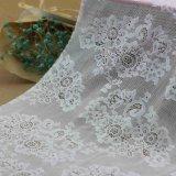 服のためのナイロンジャカードかぎ針編みのレースファブリック