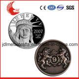 Kundenspezifisches antikes Gold, das Militär-Herausforderungs-Münze graviert