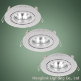 Twist Lock Ring Tilt Alumínio Recessed Ceiling GU10 MR16 Downlight Fixture