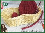 Hand Shank.를 가진 땅콩 Shaped Storage Wicker Basket