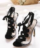 2016 zapatos de las mujeres del alto talón de la parte posterior de la honda de la manera (HC 011)