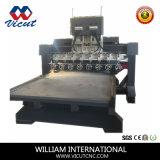 Multi движение таблицы машины CNC головки высекая роторный маршрутизатор CNC древесины (VCT-TM2512R-12H)