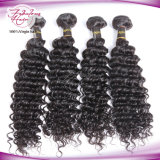 Deep Wave Natural Color Cabelo humano Weave Virgin Brazilian Hair