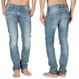 Кальсоны джинсыов хлопка джинсовой ткани качества оптовых людей славные
