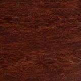 Suelo de bambú tejido hilo carbonizado cepillado