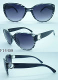 F14458 Fashion Cat Eye Sunglasses für Ladys mit Decoration