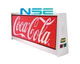 LED superior del taxi Pantalla de visualización de publicidad al aire libre P5 Mensaje tablero móvil