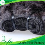 毛はねじれた巻き毛のバージンのRemyの人間の毛髪の拡張を束ねる