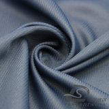 agua de 50d 240t y de la ropa de deportes tela rayada tejida chaqueta al aire libre Viento-Resistente 100% de la pongis del poliester del telar jacquar de la piel del melocotón abajo (53063)