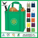 Vente en gros non tissée bon marché faite sur commande de sac à provisions de pp